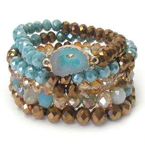Jewelry - NEW 5pc stretch bracelet set